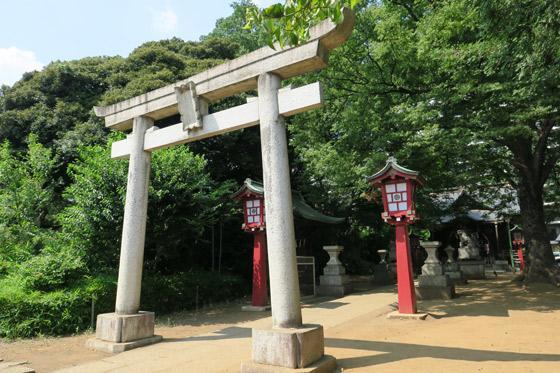 東京都江古田氷川神社の鳥居