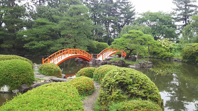 宮城県山神社の庭園