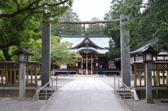 徳島県大麻比古神社の本殿