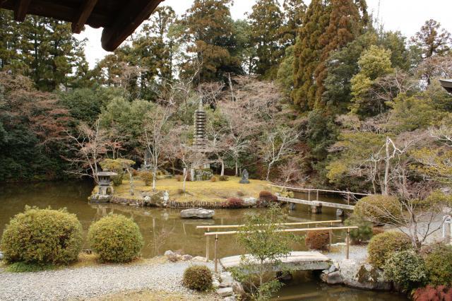 京都府清凉寺の庭園