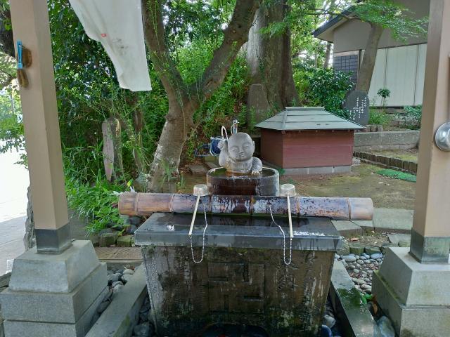 境木地蔵尊の手水