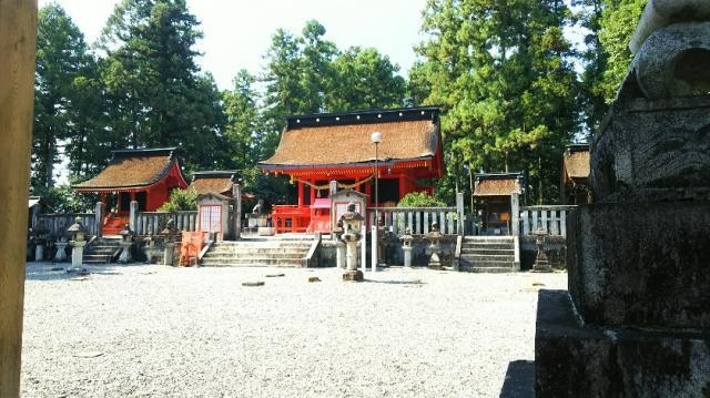 岐阜県日吉神社の本殿