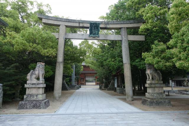 愛媛県大山祇神社の鳥居