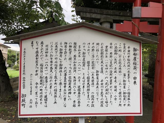 長野県御船屋稲荷神社の歴史
