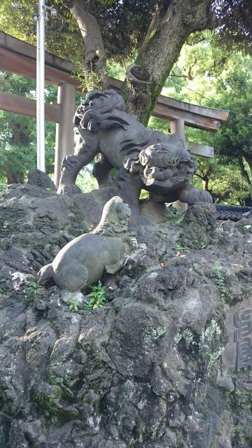 牛嶋神社の狛犬