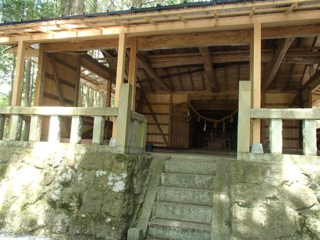 岐阜県血洗神社の本殿