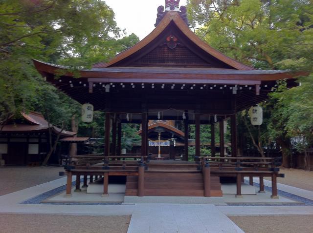 京都府梨木神社の本殿
