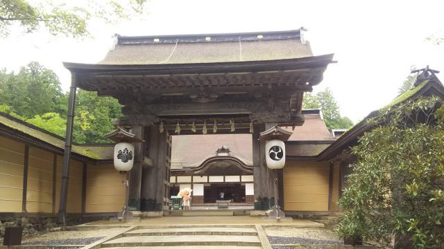 和歌山県高野山金剛峯寺の山門