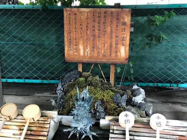 諏訪神社(東京都西早稲田駅) - 手水舎の写真