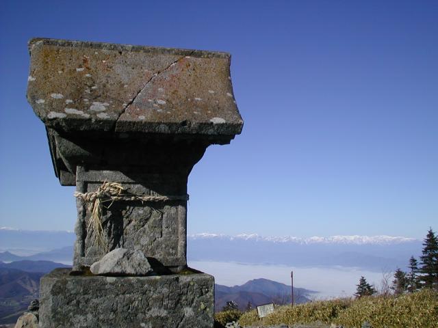 長野県禰固岳神社の景色