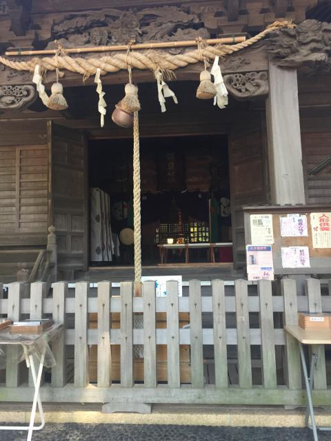 神奈川県鶴嶺八幡宮の本殿