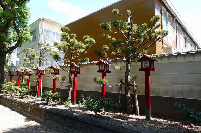 茨木神社の庭園
