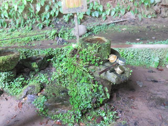 福岡県八女津媛神社の手水