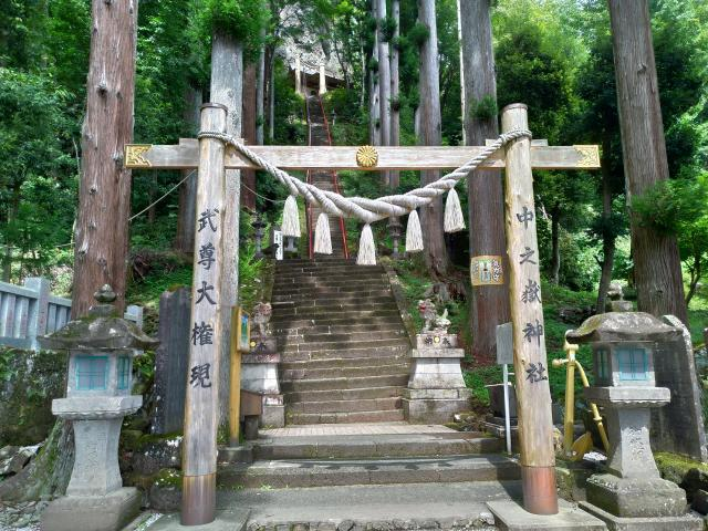 群馬県中之嶽神社の鳥居