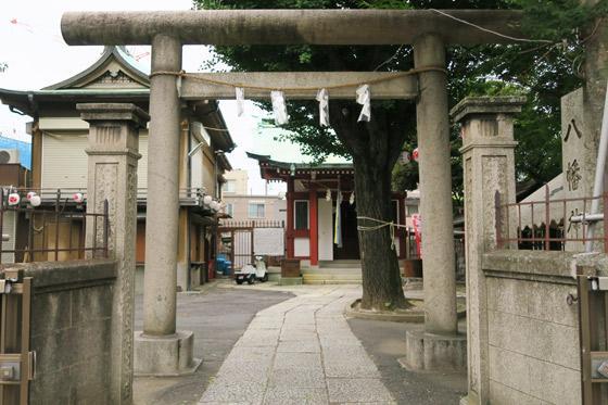 東京都白幡八幡神社の鳥居