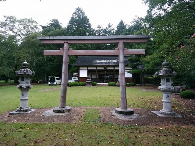 長野県松川神社の鳥居