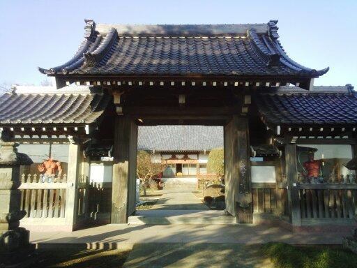 埼玉県大王寺の山門