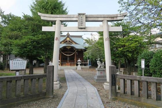 埼玉県十二所神社の鳥居