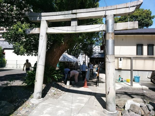 千勝浅間神社の鳥居