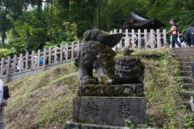 戸隠神社奥社の狛犬