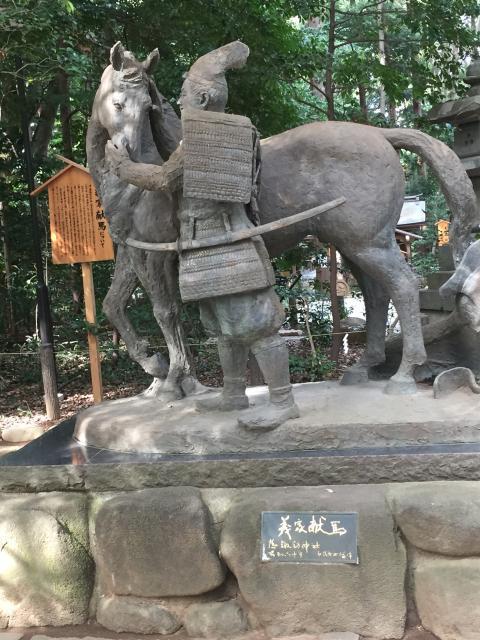 諏訪神社(駒木諏訪神社)の像