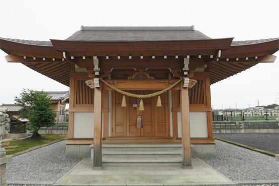 埼玉県稲蒼魂神社の本殿