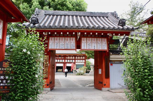 大阪府勝鬘院の山門