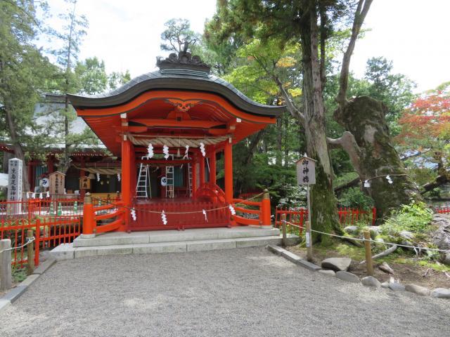 長野県生島足島神社の本殿