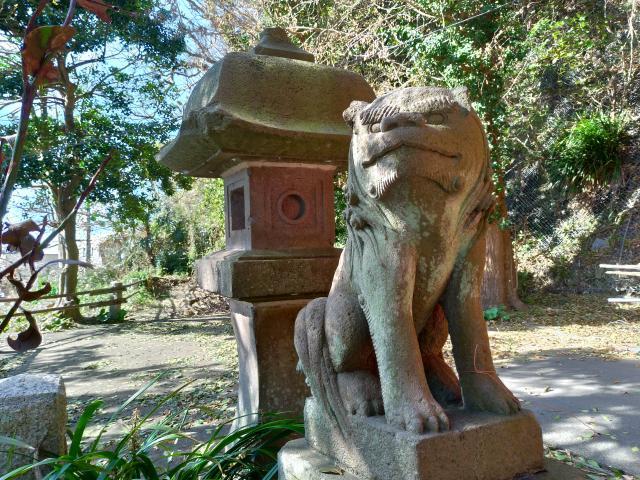 神奈川県新宿稲荷神社の狛犬