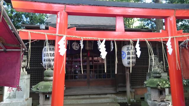 東京都吉祥寺武蔵野八幡神社の鳥居