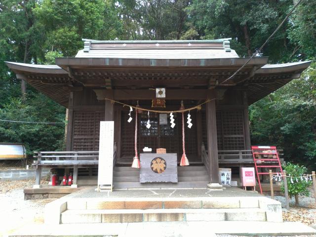 神奈川県白旗神社の本殿