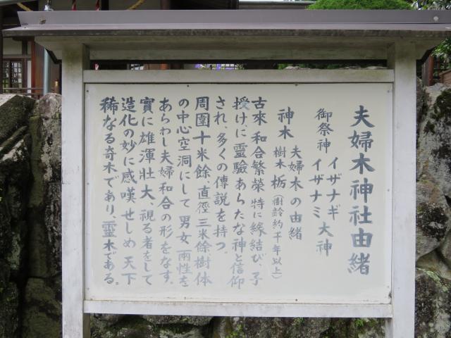夫婦木神社の歴史