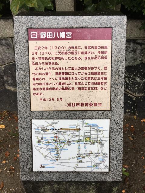 野田八幡宮の歴史