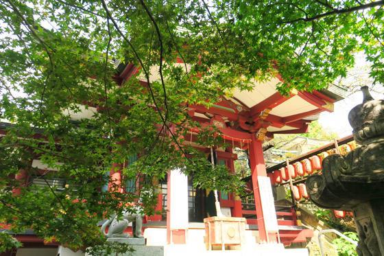 市谷亀岡八幡宮の本殿