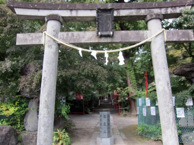 群馬県渋川八幡宮の鳥居
