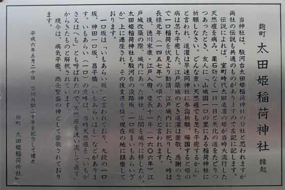 東京都太田姫稲荷神社の歴史