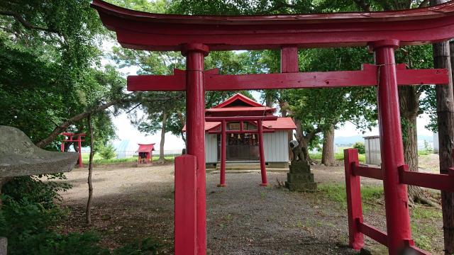 青森県月夜見神社の鳥居