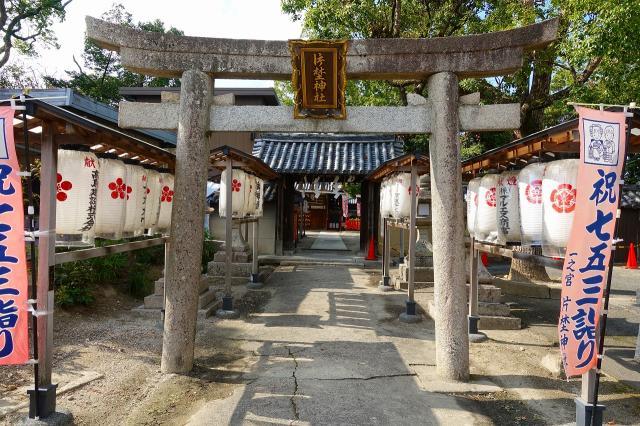 大阪府片埜神社の鳥居