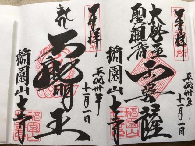 愛知県七寺の御朱印