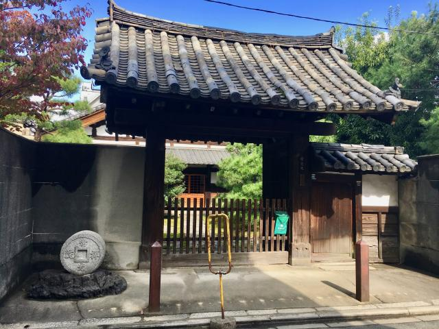 京都府常光院の山門