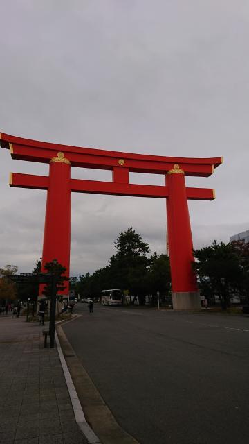 京都府平安神宮の鳥居
