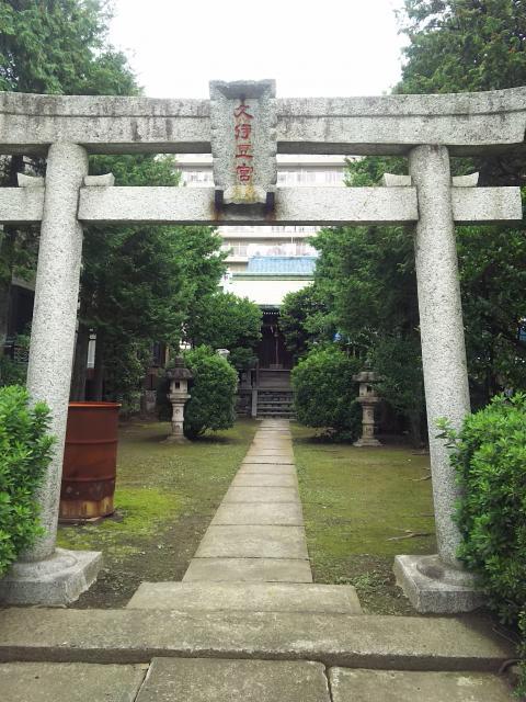 埼玉県久伊豆神社(久伊豆宮寿神社)の鳥居