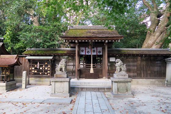 京都府宗像神社の本殿