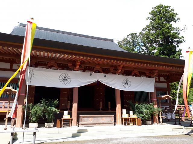 岩手県毛越寺の本殿