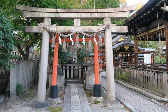 京都府満足稲荷神社の鳥居