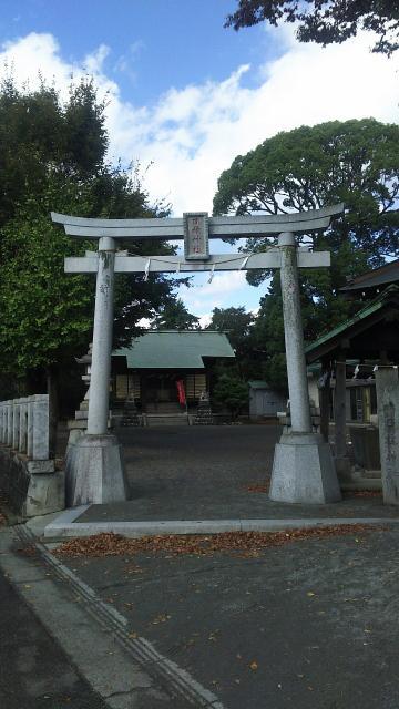 神奈川県日枝神社の鳥居
