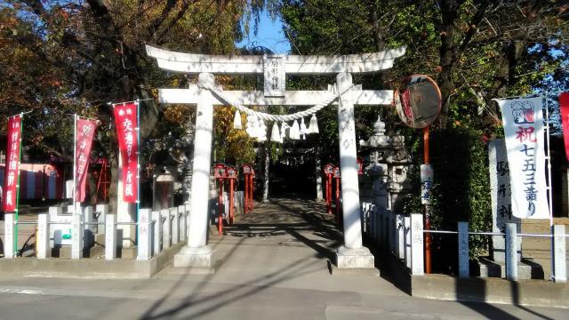 群馬県駒形神社の鳥居