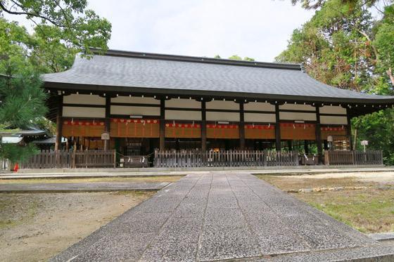 京都府宗忠神社の本殿