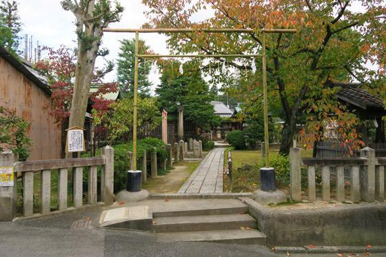 京都府剣神社の鳥居