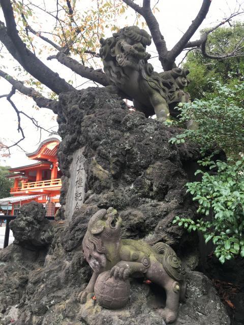 千葉神社(千葉県葭川公園駅) - 狛犬の写真